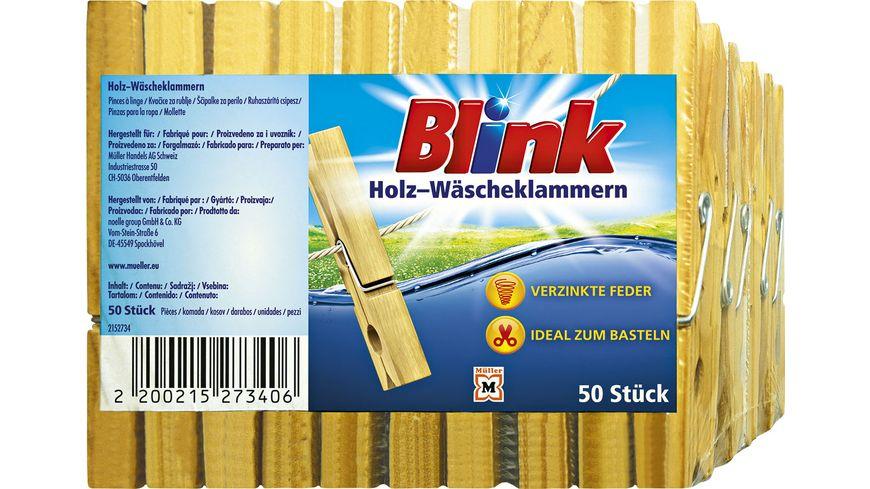 Blink Wäscheklammer Holz 50 Stück