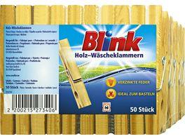 Blink Waescheklammer Holz 50 Stueck