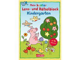 Mein bunter Lern und Raetselblock Kindergarten Fuer Kita und Vorschulkinder ab 4 Jahren