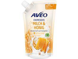 AVEO Cremeseife Milch Honig Nachfuellbeutel