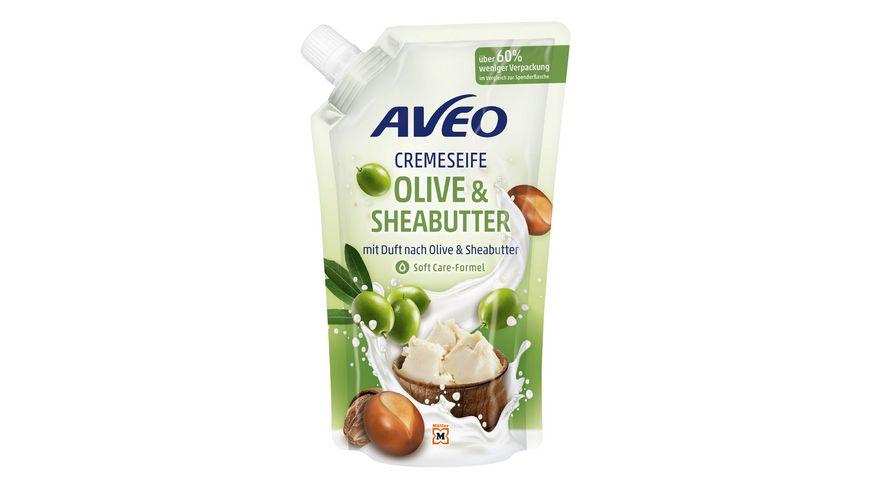 AVEO Cremeseife Olive & Sheabutter Nachfüllbeutel