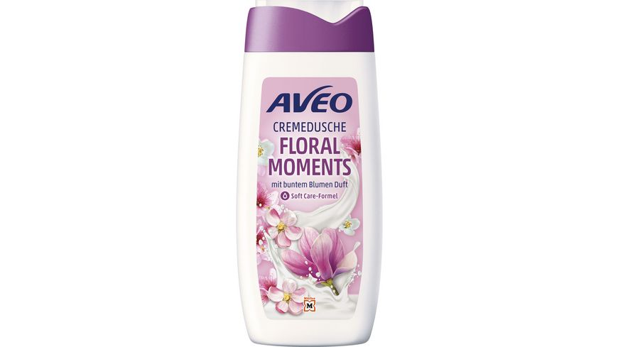 AVEO Cremedusche Floral Moments mit buntem Blumen Duft