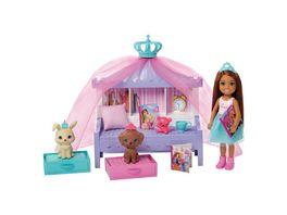 Barbie Prinzessinnen Abenteuer Chelsea Puppe bruenett Maerchenstunde Spielset