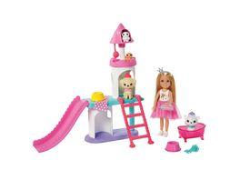 Barbie Prinzessinnen Abenteuer Chelsea Puppe blond Haustier Schloss Spielset