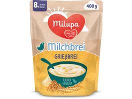 Milupa Beikost Milchbrei Griessbrei Miluvit Kleine Geniesser ab dem 8 Monat