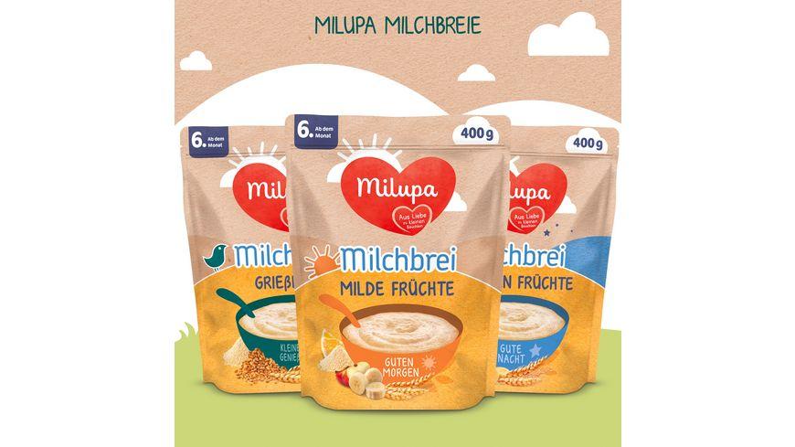 Milupa Milchbrei Griessbrei Miluvit Kleine Geniesser ab dem 8 Monat