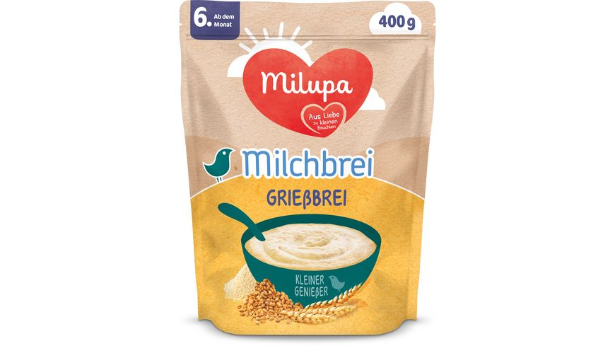 Milupa Beikost Milchbrei Grießbrei Miluvit Kleine Genießer ab dem 6. Monat