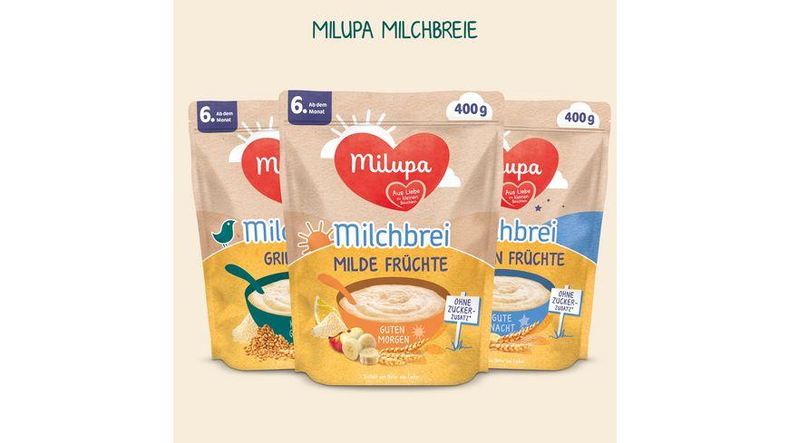 Milupa Milchbrei Milde Fruechte Guten Morgen ab dem 6 Monat