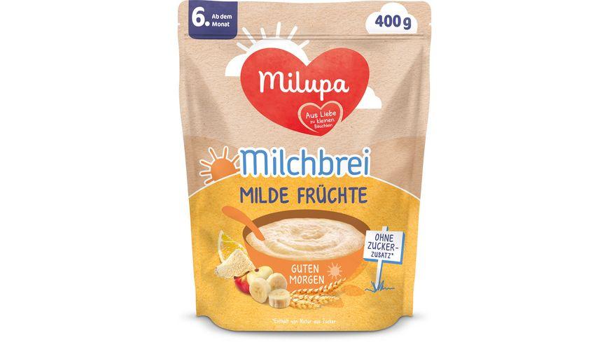 Milupa Beikost Milchbrei Milde Früchte Guten Morgen ab dem 6. Monat
