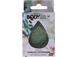 BODY SOUL Konjac Schwamm mit Gruentee Extrakt