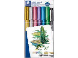 STAEDTLER Layoutmarker 8323 Metallic pen Pigmentliner im Etui
