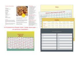 Tisch Bildvormerkkalender 21 5x15cm