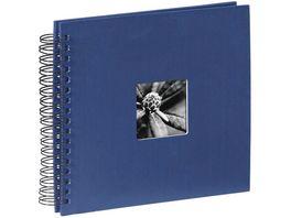 Hama Spiral Album Fine Art 28 x 24 cm 50 schwarze Seiten Blau