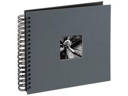 Hama Spiral Album Fine Art 28 x 24 cm 50 schwarze Seiten Grau