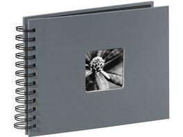 Hama Spiral Album Fine Art 24 x 17 cm 50 schwarze Seiten Grau