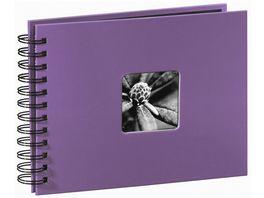 Spiral Album Fine Art 24 x 17 cm 50 schwarze Seiten Lila