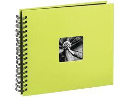 Hama Spiral Album Fine Art 28 x 24 cm 50 schwarze Seiten Kiwi