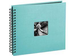 Hama Spiral Album Fine Art 28 x 24 cm 50 schwarze Seiten Tuerkis