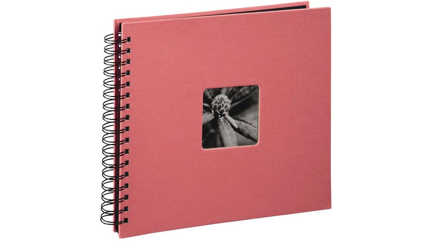 "Hama Spiral-Album ""Fine Art"", 28 x 24 cm, 50 schwarze Seiten, Flamingo"