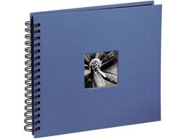 Hama Spiral Album Fine Art 28 x 24 cm 50 schwarze Seiten Azur