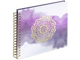 Hama Spiral Album Golden Watercolor 28x24 cm 50 weisse Seiten