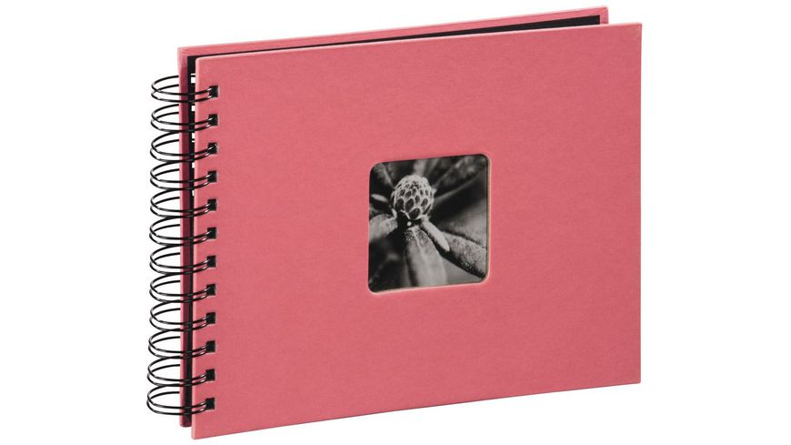 "Hama Spiral-Album ""Fine Art"", 24 x 17 cm, 50 schwarze Seiten, Flamingo"