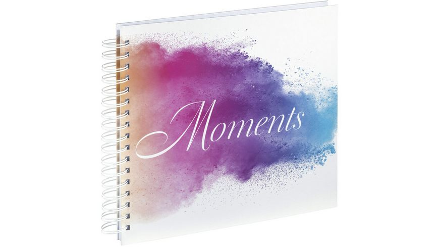 """Hama Spiral-Album """"Watercolor Moments"""", 28x24 cm, 50 weiße Seiten"""