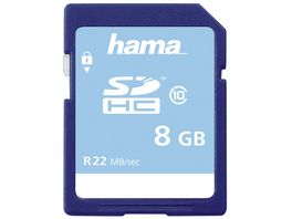Hama SDHC 8GB Class 10 22MB s Schmale Verpackung