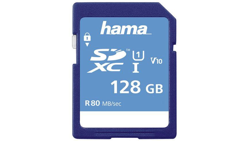 Hama SDXC 128GB Class 10 UHS-I 80MB/s