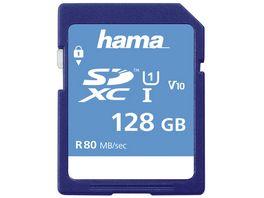 Hama SDXC 128GB Class 10 UHS I 80MB s