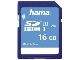 Hama SDHC 16GB Class 10 UHS I 80MB S
