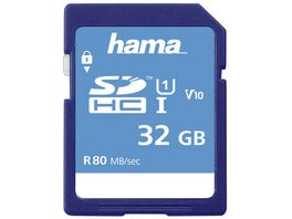 Hama SDHC 32GB Class 10 UHS I 80MB S