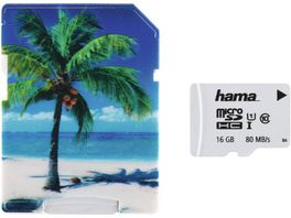 Hama microSDHC 16GB Class 10 UHS I 80MB s Adapter Palme Schmale Verpackung