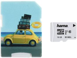 Hama microSDHC 16GB Class 10 UHS I 80MB s Adapter Auto Schmale Verpackung