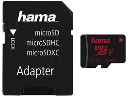 Hama microSDXC 128GB UHS Speed Class 3 UHS I 80MB s Adapter Foto