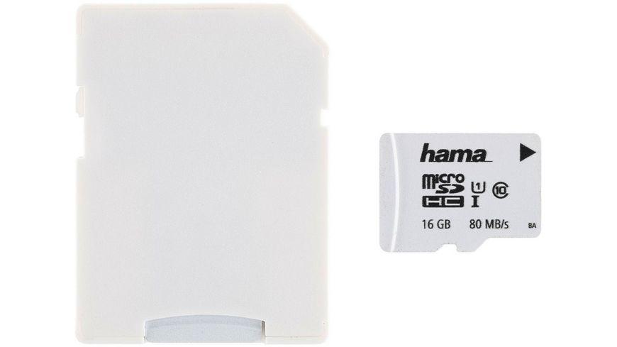Hama 0MB/s + Adapter, Weiß, Schmale Verpackung