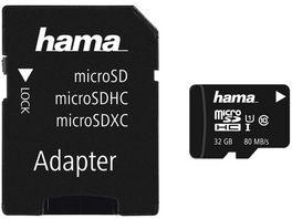 Hama microSDHC 32GB Class 10 UHS I 80MB s Adapter Foto
