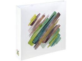 Hama Memo Album Brushstroke fuer 200 Fotos im Format 10x15 cm Gruen