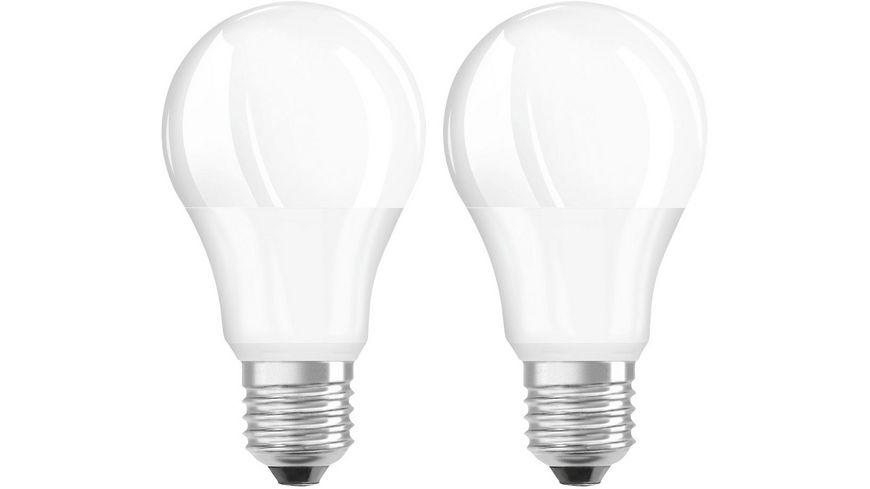 Hama LED Lampe E27 806lm ersetzt 60W Gluehlampe Warmweiss 2 Stueck