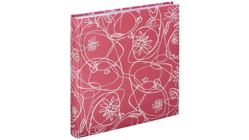 """Hama Jumbo-Album """"Decori II"""", 30x30 cm, 100 weiße Seiten, Flamingo"""