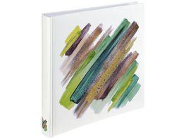 Hama Jumbo Album Brushstroke 30x30 cm 80 weisse Seiten Gruen