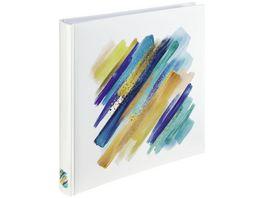 Hama Jumbo Album Brushstroke 30x30 cm 80 weisse Seiten Blau