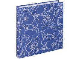 Hama Jumbo Album Decori II 30x30 cm 100 weisse Seiten Blau