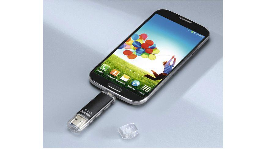 Hama USB Stick Laeta Twin USB 3 0 64GB 40MB s Schwarz