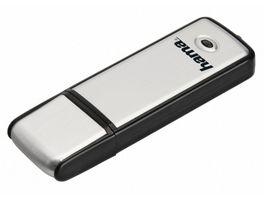 Hama USB Stick Fancy USB 2 0 64 GB 10MB s Schwarz Silber