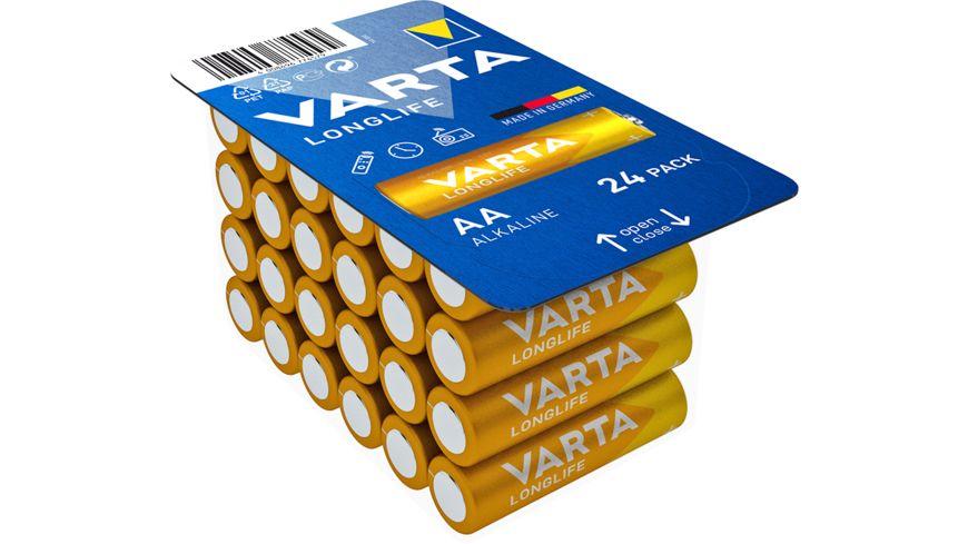 VARTA LONGLIFE, Alkaline Batterie, AA, Mignon LR6, 24 Stück