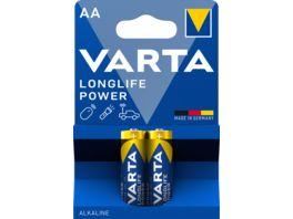 VARTA LONGLIFE Power Alkaline Batterie AA Mignon LR6 2 Stueck