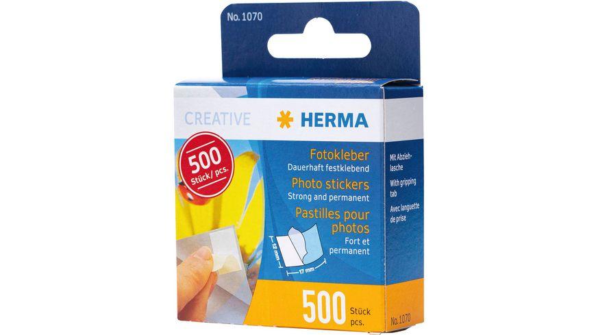 HERMA Fotokleber im Kartonspender, 500 Stück