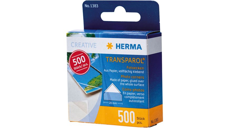 HERMA Transparol Fotoecken Spendepackung 500 Stück