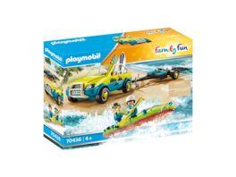 PLAYMOBIL 70436 Family Fun Strandauto mit Kanuanhaenger